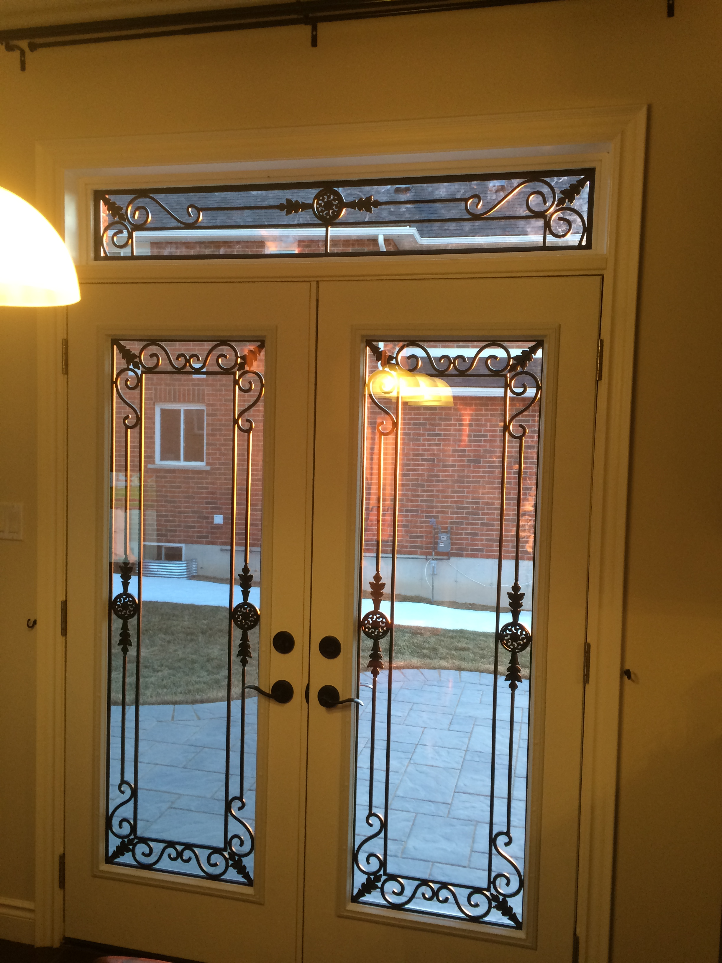 Georgetown-Wrought-Iron-Glass-Door-Inserts-Orillia-Ontario