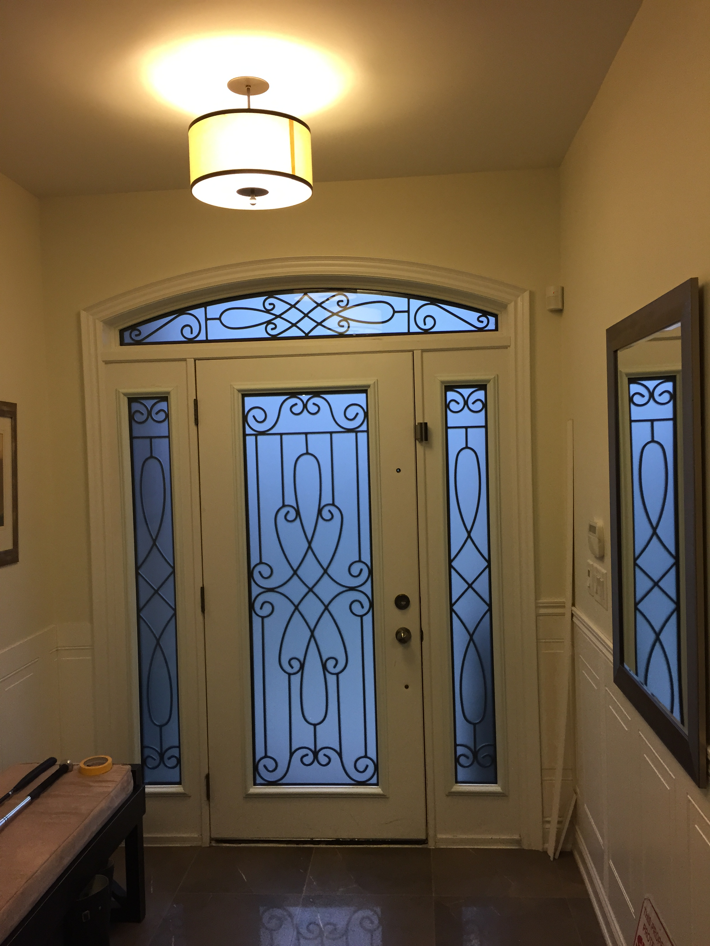 Nottingham-Wrought-Iron-Glass-Door-Inserts-Barrie-Ontario