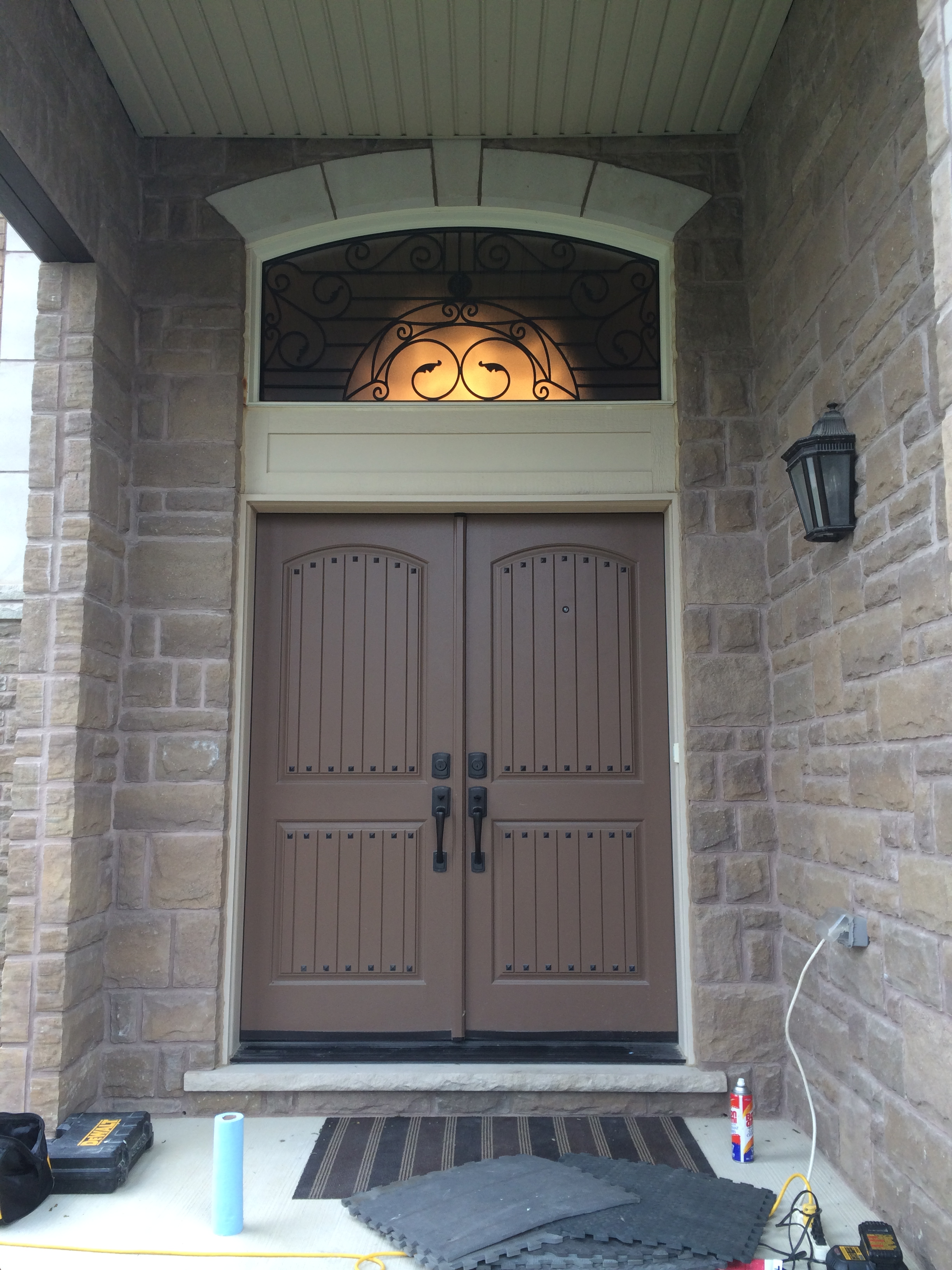 Rochester-Wrought-Iron-Glass-Door-Inserts-Mississauga-Ontario
