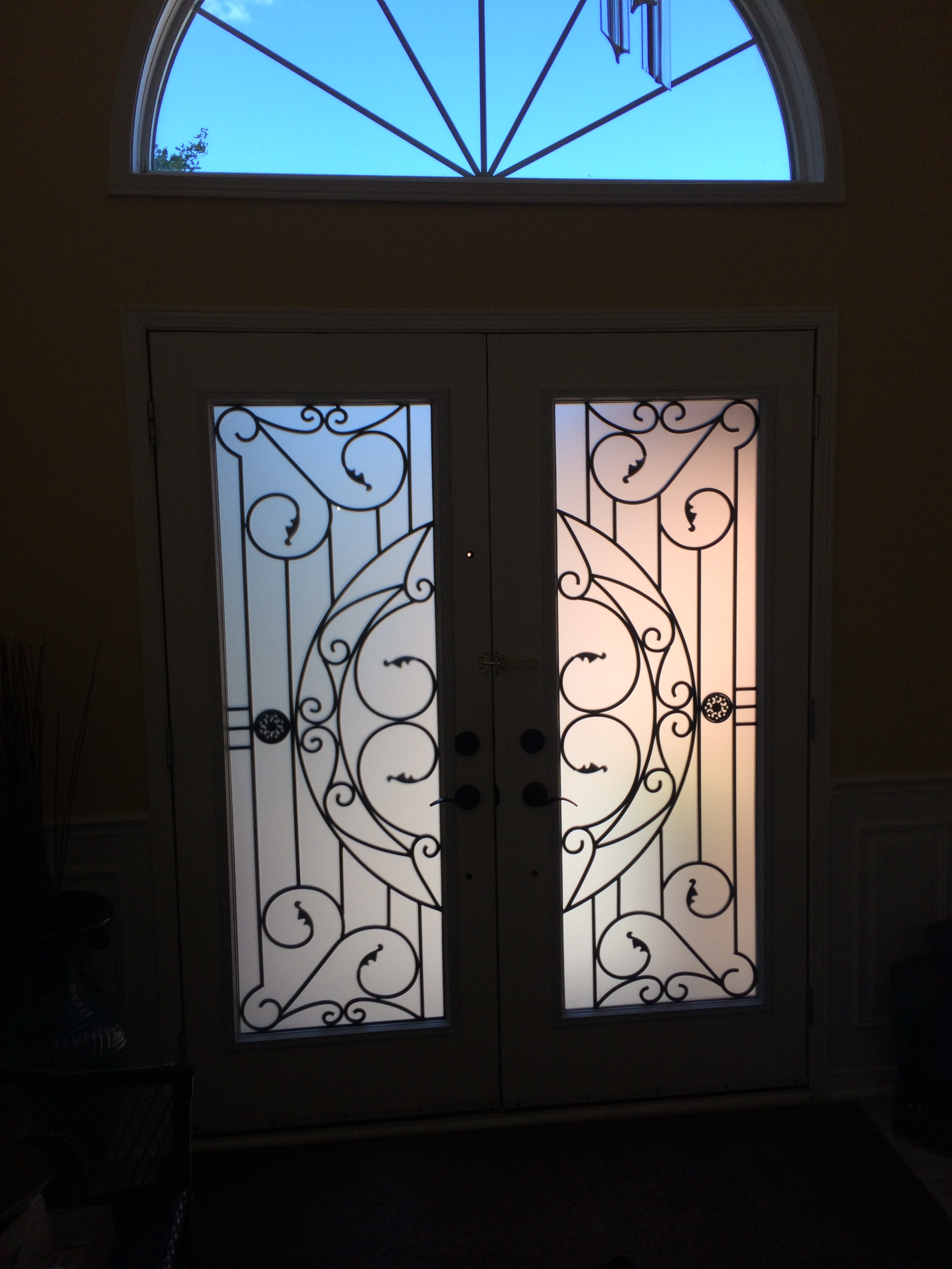 Rochester-Wrought-Iron-Glass-Door-Inserts-Nobleton-Ontario
