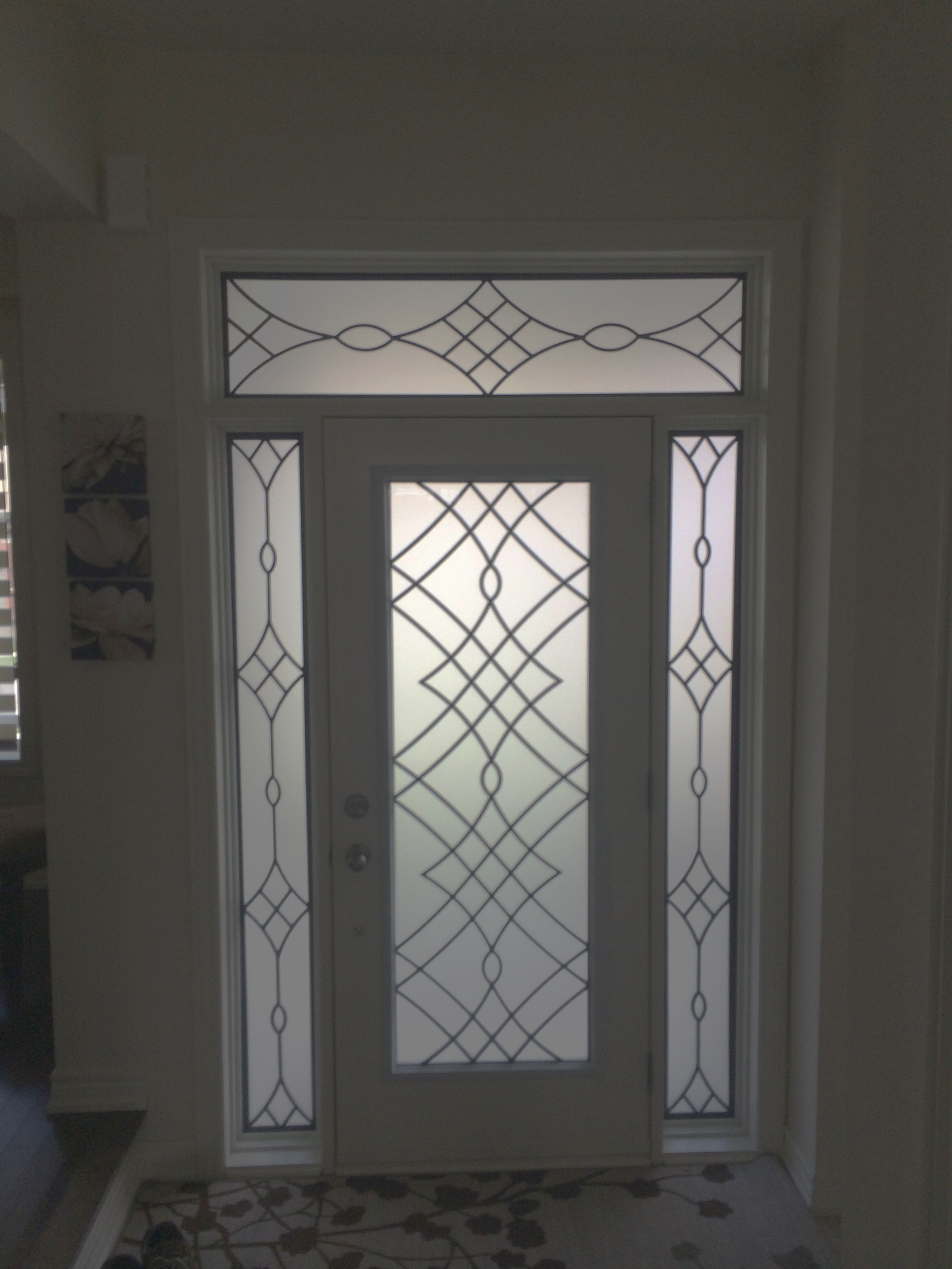 Oakridge-Wrought-Iron-Glass-Door-Inserts-Orangeville-Ontario