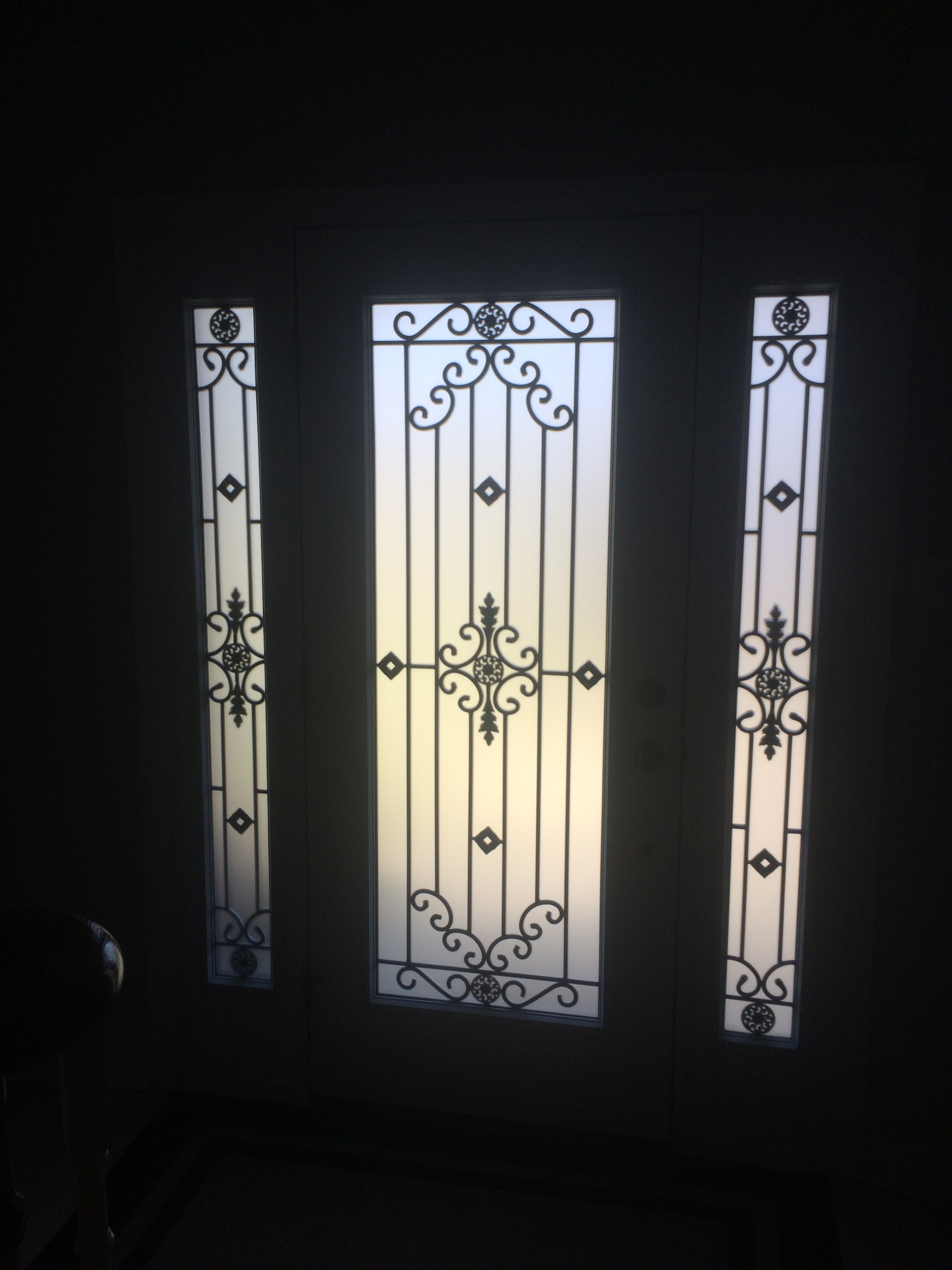 Dalmont-wrought-iron-glass-door-Inserts-Hamilton-Ontario