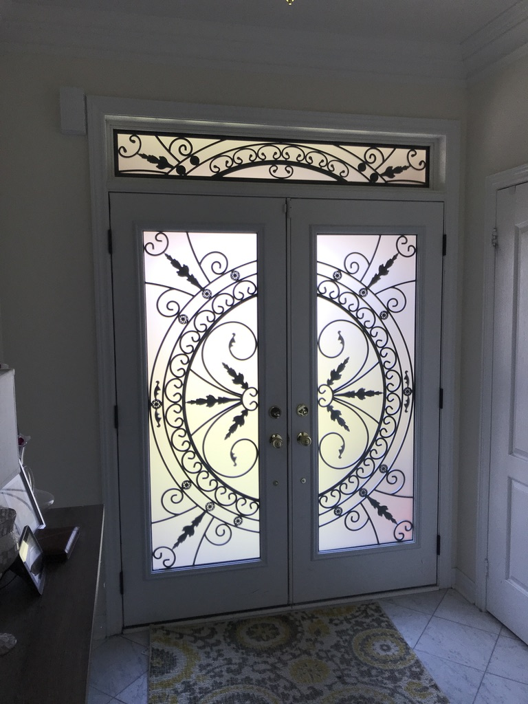 Chesterfield-wrought-Iron-Glass-Door-Inserts-Ajax-Ontario