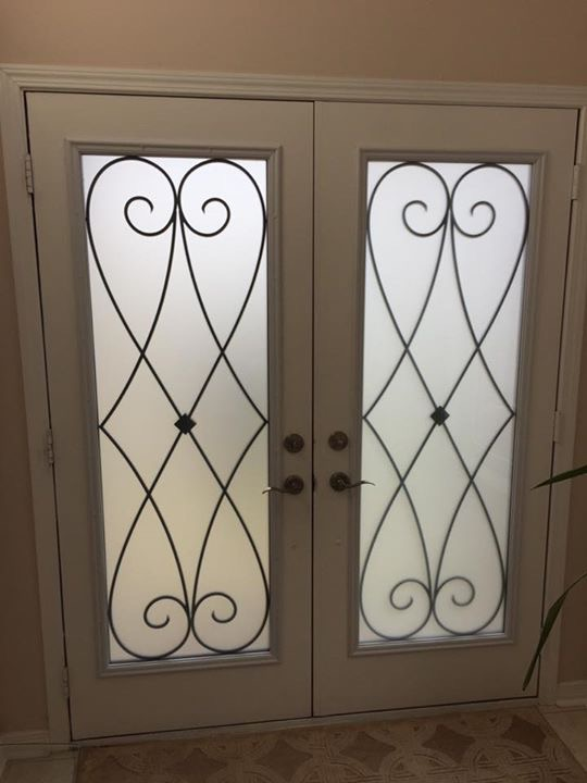 Beverly-Hills-Wrought-Iron-Glass-Door-Inserts-Brampton-Ontario