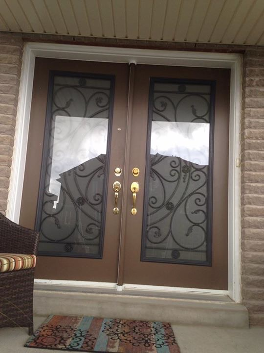 Campbellsford-Wrought-Iron-Glass-Door-Inserts-Ajax-Ontario