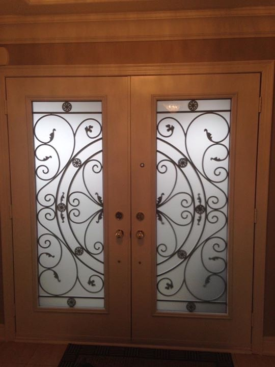 Campbellsford-Wrought-Iron-Glass-Door-Inserts-Oshawa-Ontario