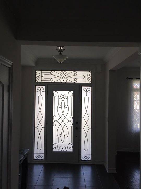 Nottingham-Wrought-Iron-Glass-Door-Inserts-Alliston-Ontario
