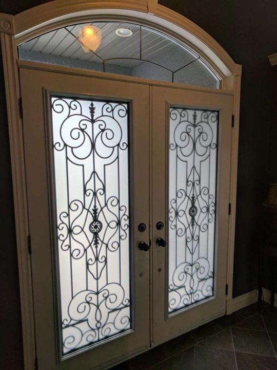 Old-Castle-Wrought-Iron-Glass-Door-Inserts-Alliston-Ontario