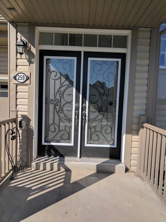 Rochester-Wrought-Iron-Glass-Door-Inserts-North-York-Ontario
