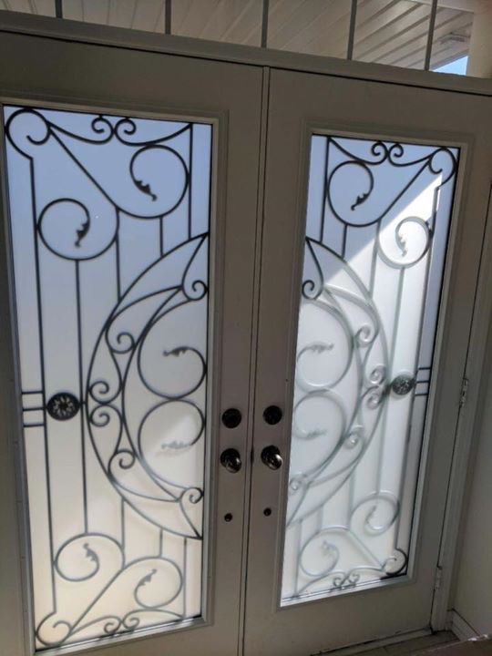 Rochester-Wrought-Iron-Glass-Door-Inserts-Orangeville-Ontario