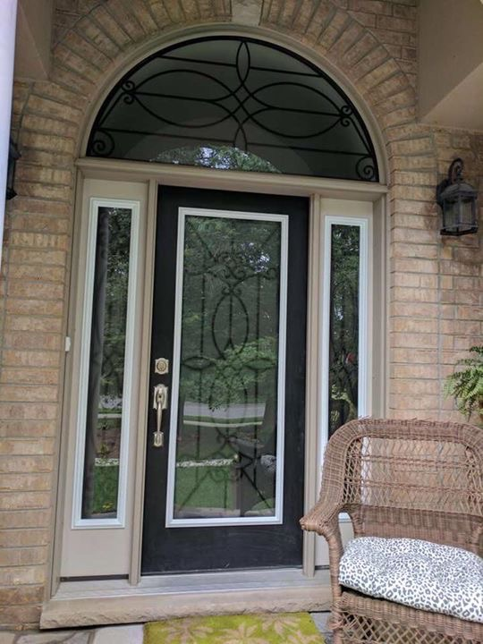 Blackburn-Wrought-Iron-Glass-Door-inserts-waterdown-Ontario