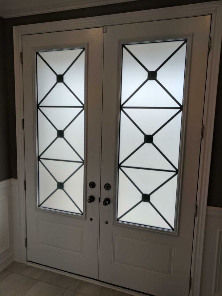 x-design-wrought-iron-glass-door-inserts-installtion-in-stouffville-on