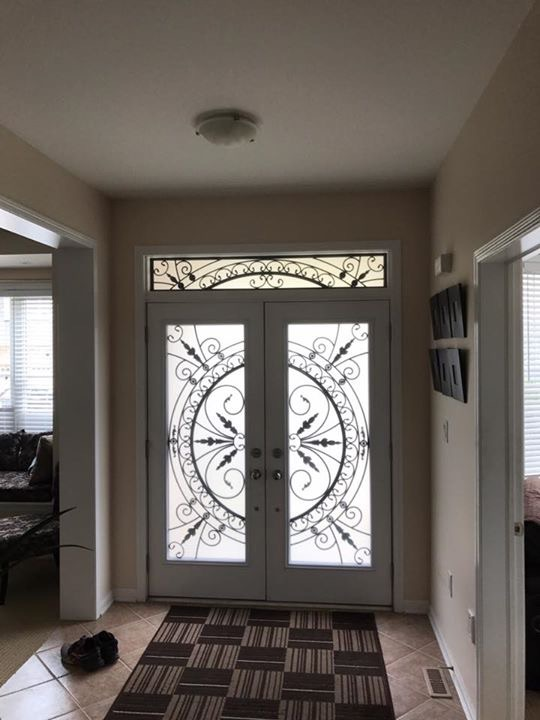 Chesterfield-wrought-Iron-Glass-Door-Inserts-Newcastle-Ontario