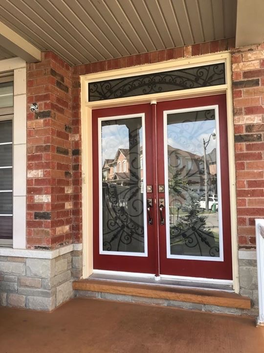 Chesterfield-wrought-Iron-Glass-Door-Inserts-Aurora-Ontario