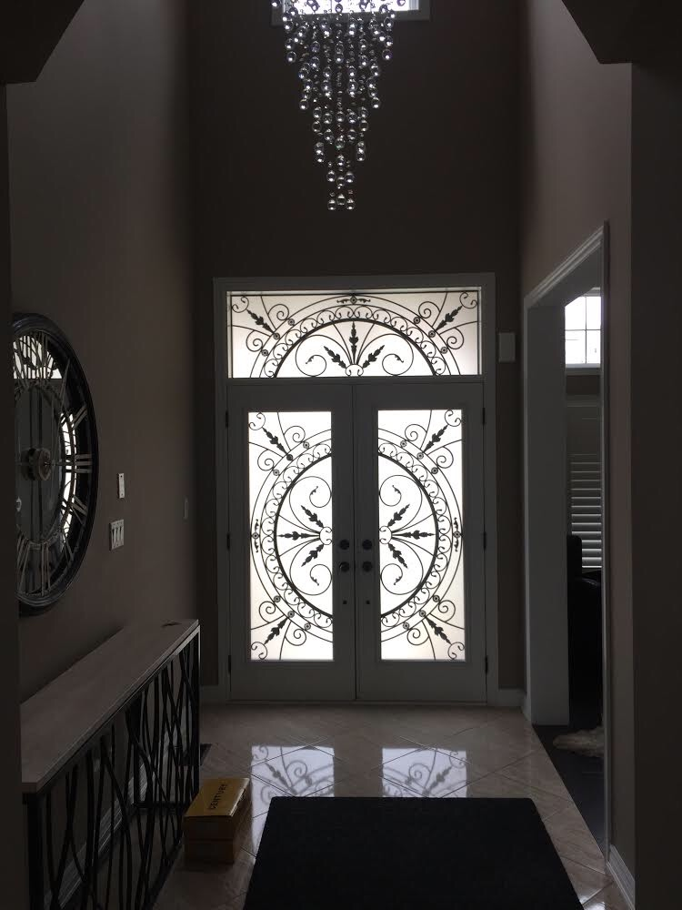 Chesterfield-wrought-Iron-Glass-Door-Inserts-Bradford-Ontario