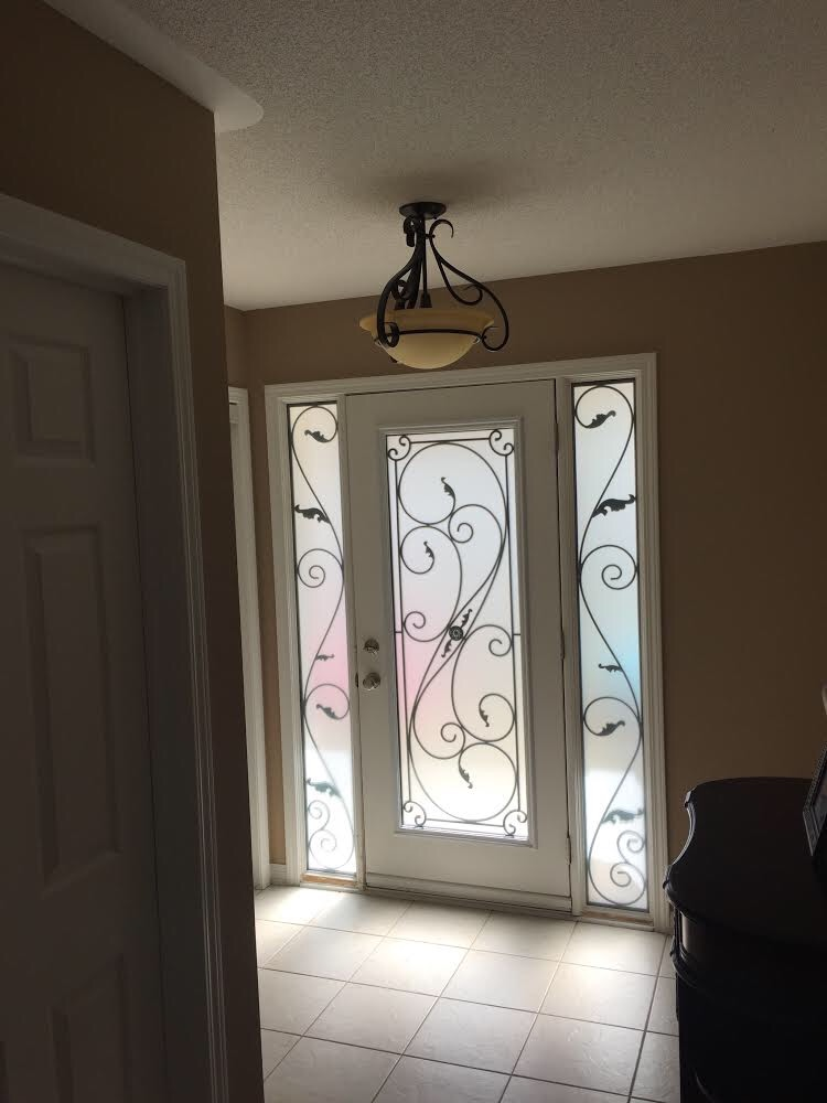 Flamingo-Bay-Wrought-Iron-Glass-Door-Inserts-Tottenham-Ontario