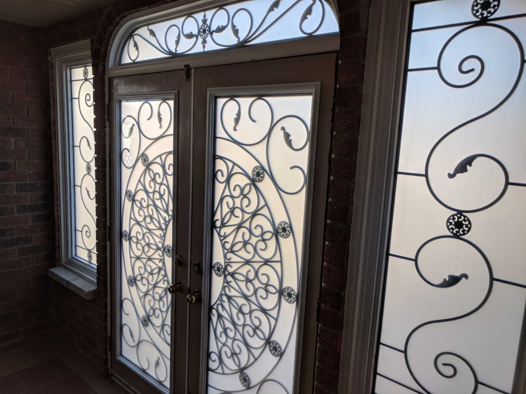 Palos-Verdes-wrought-iron-glass-door-inserts-hamilton-Ontario