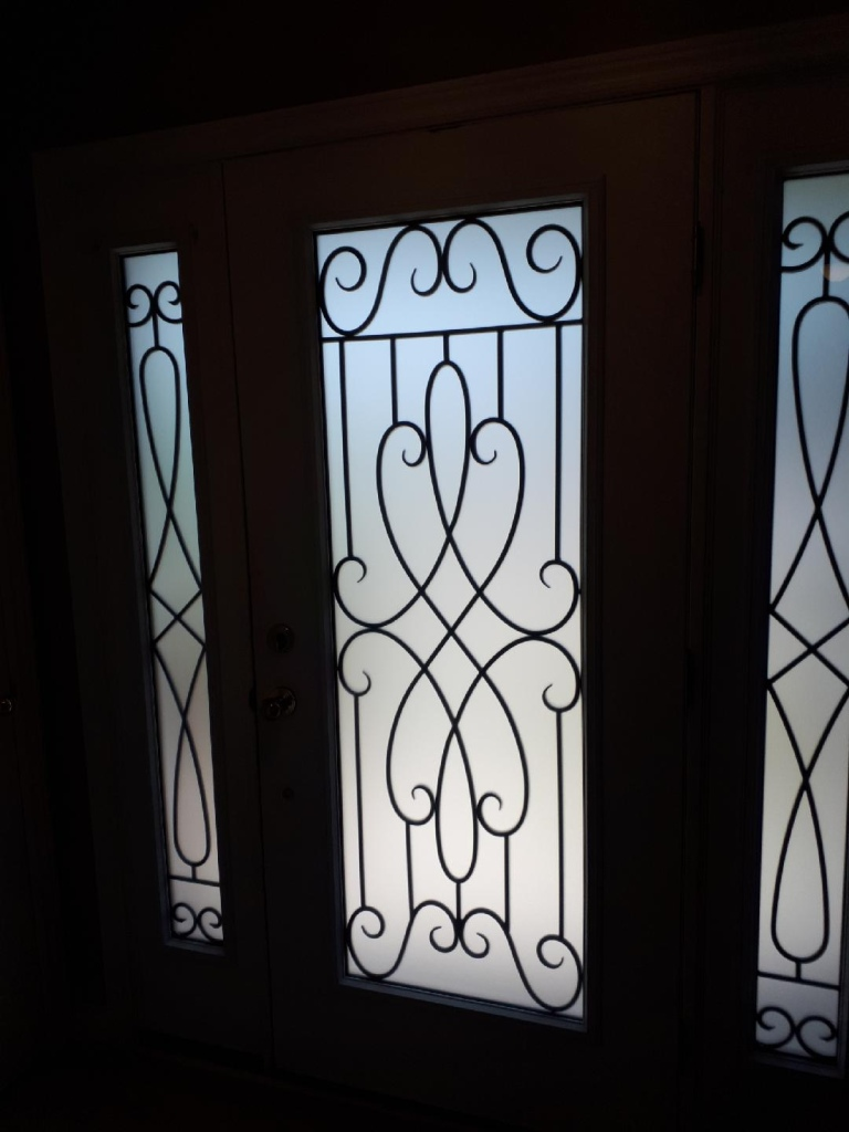 Nottingham-Wrought-Iron-Glass-Door-Inserts-Hamilton-Ontario