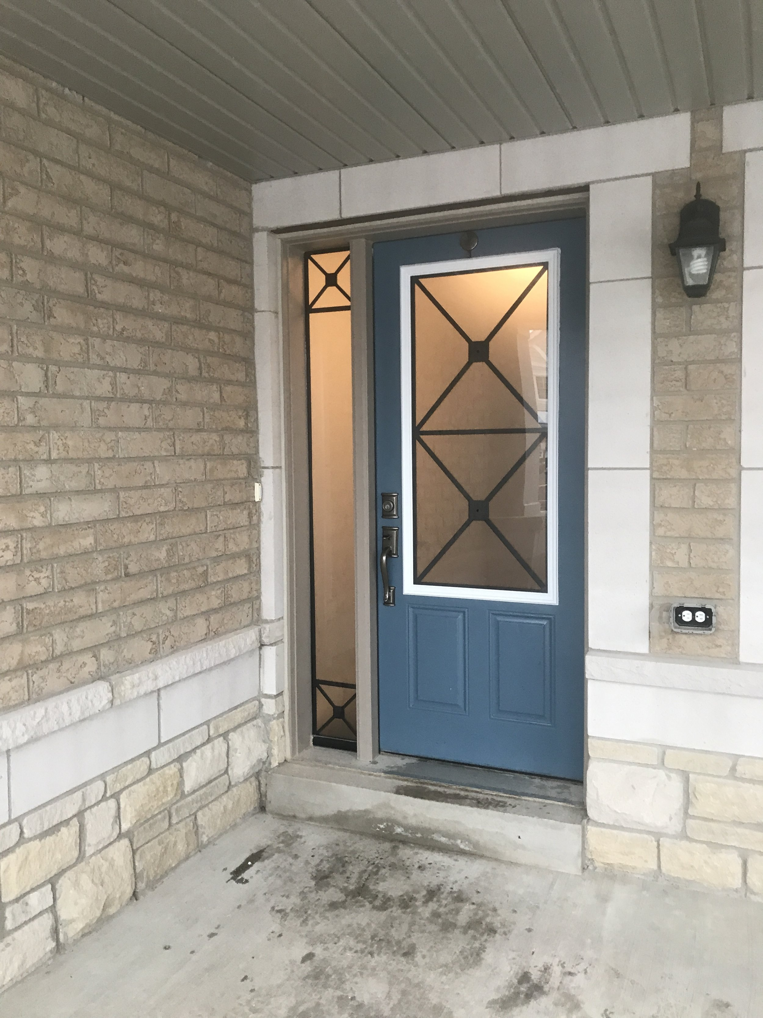 Wrought-iron-glass-door-inserts-Alliston-ontario
