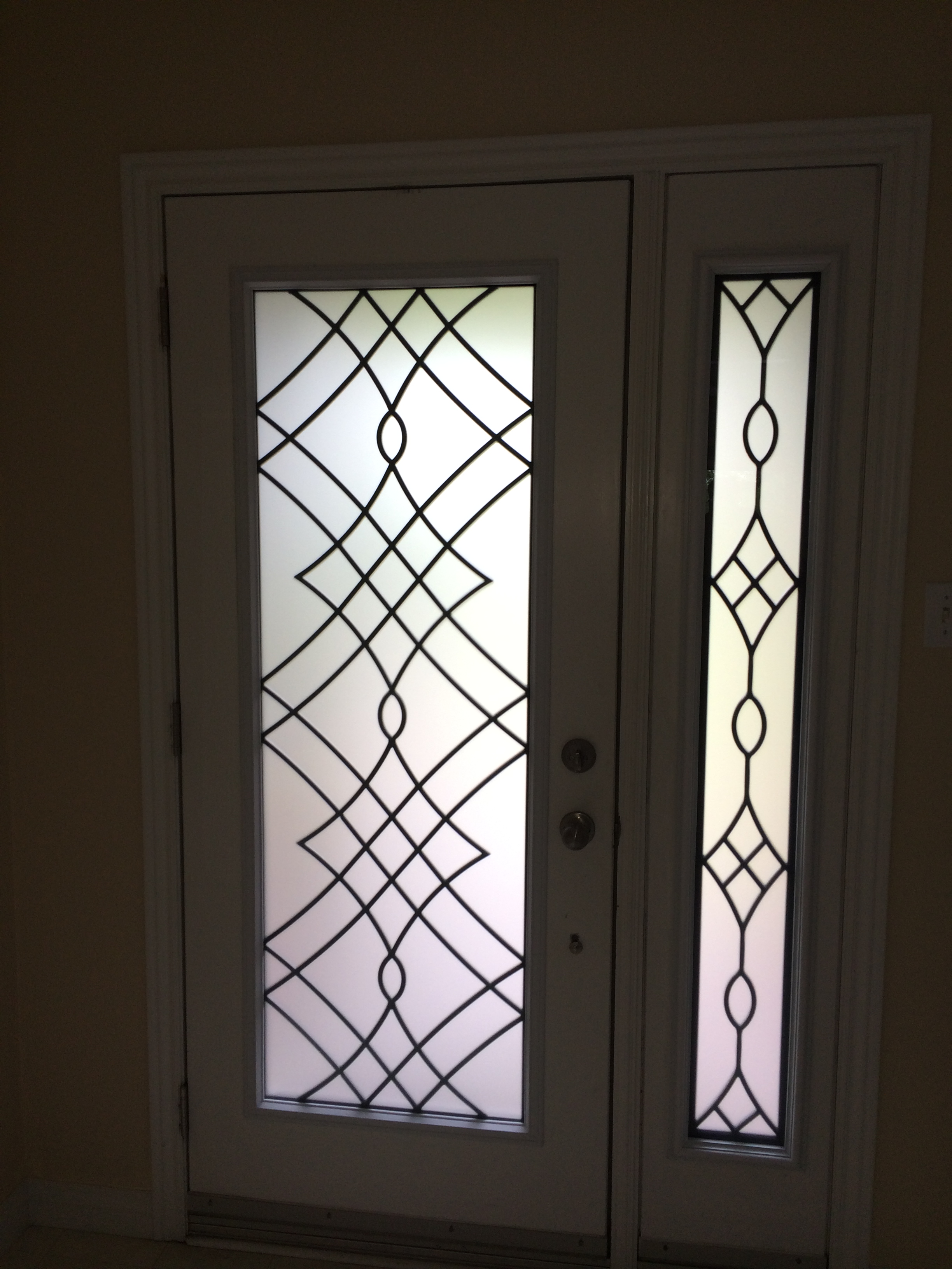 Oakridge-Wrought-Iron-Glass-Door-Inserts-Aurora-Ontario