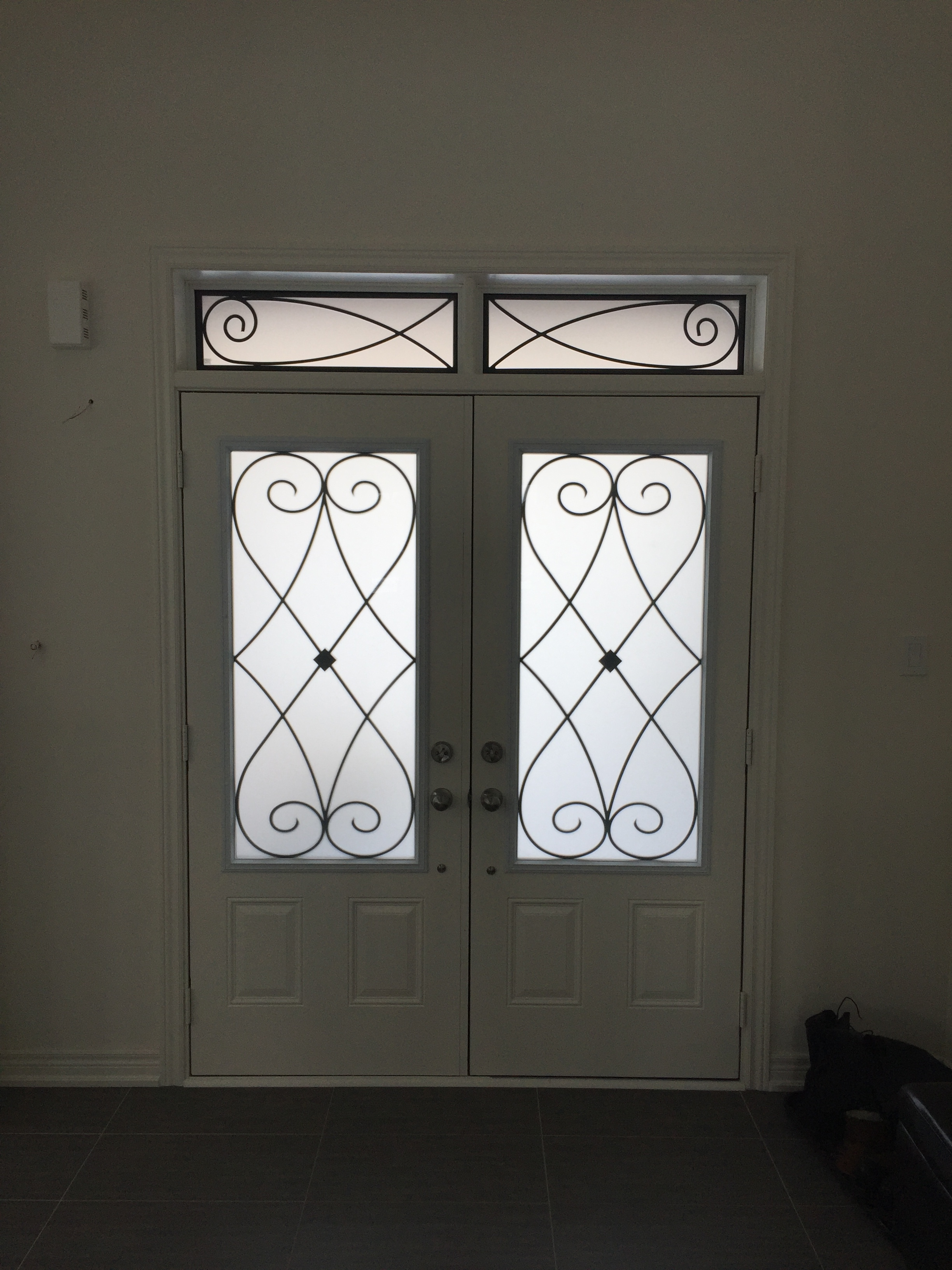 Beverly-Hills-Wrought-iron-Glass-Door-Inserts-Hamilton-Ontario
