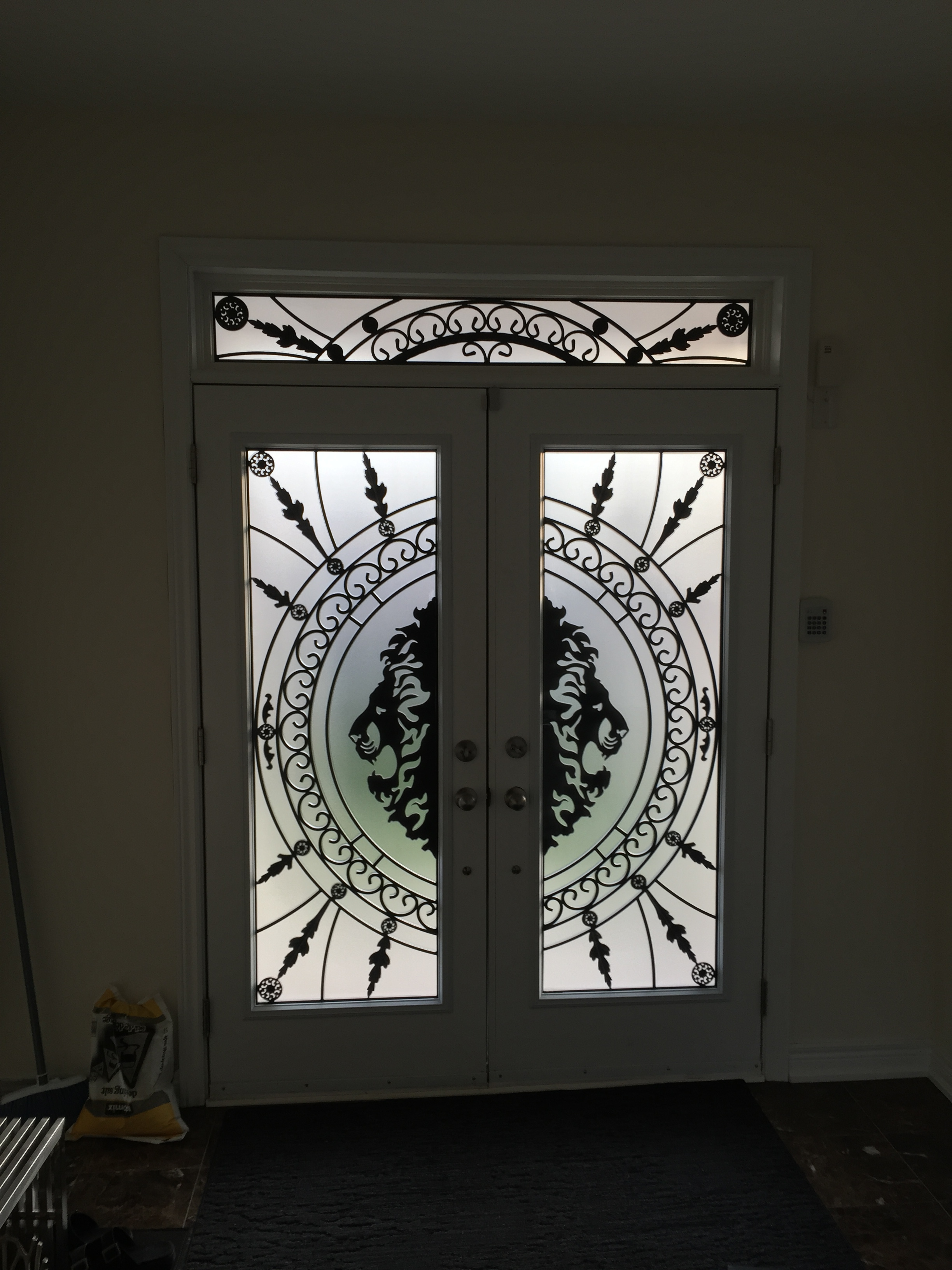 Forest-King-Wrought-Iron-Glass-Door-Inserts-Brampton-Ontario