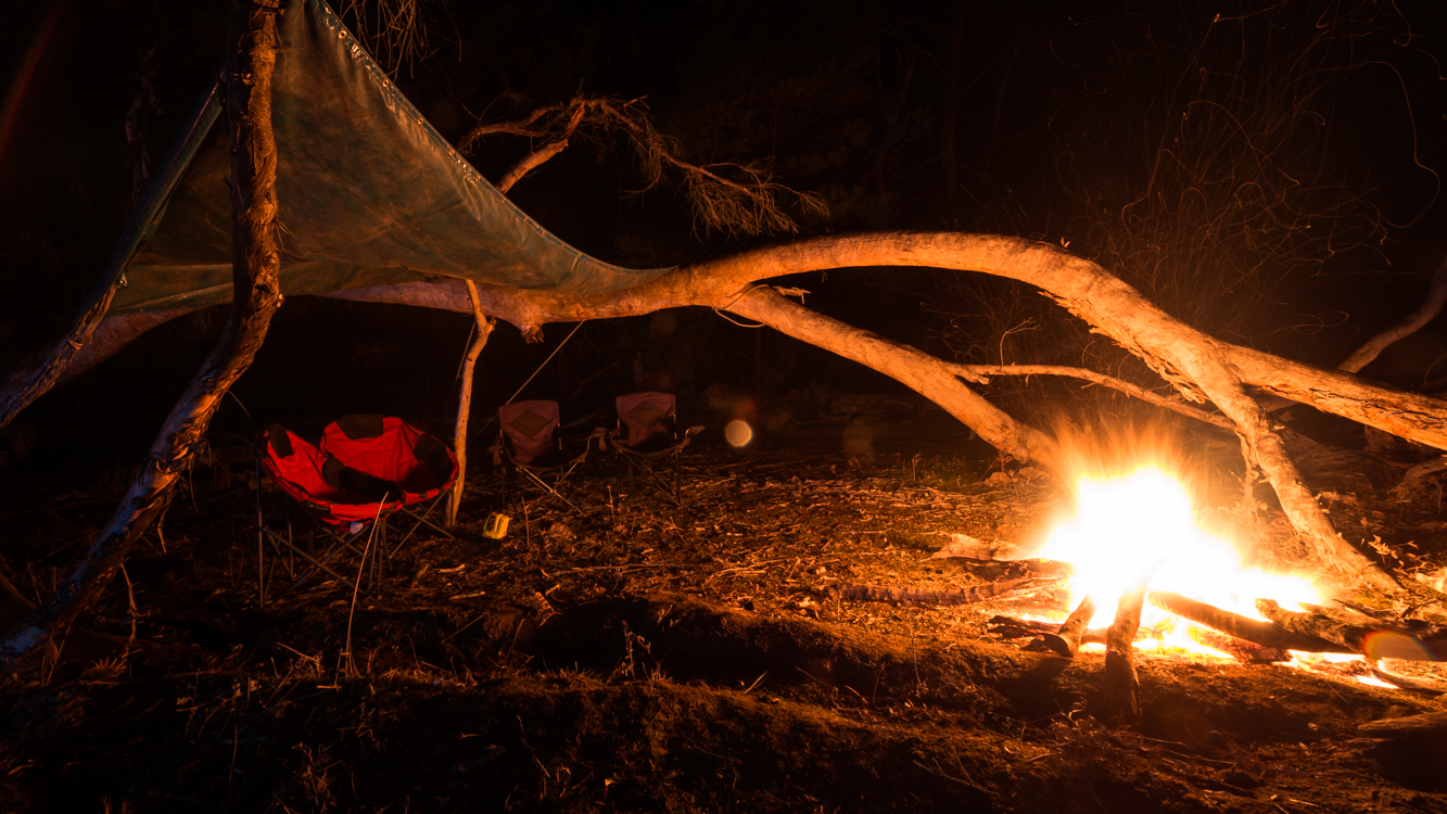 Campfire at Halls Gap VIC