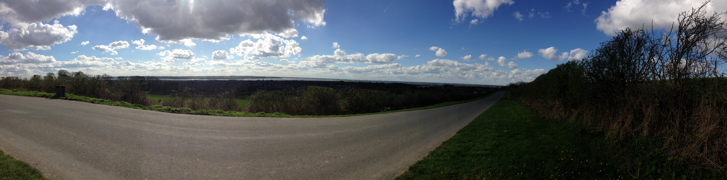 Look mum! I'm on top of the Wolds.