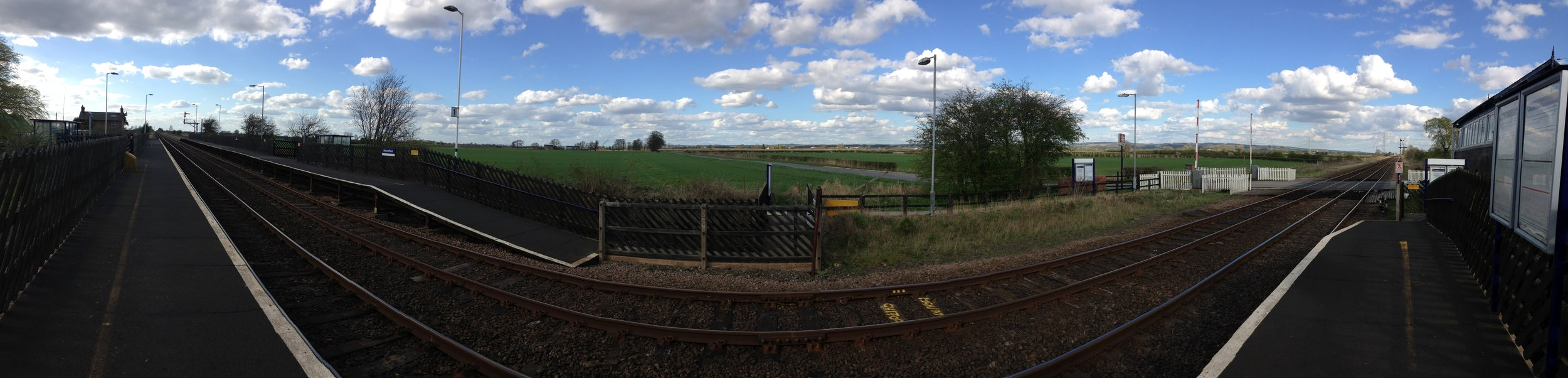 Broomfleet Station:  Just out of shot, the only train of the day...