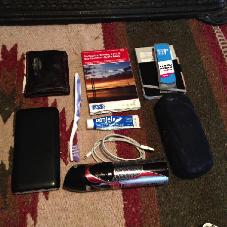 Packing light:  Everything but the bear spray.