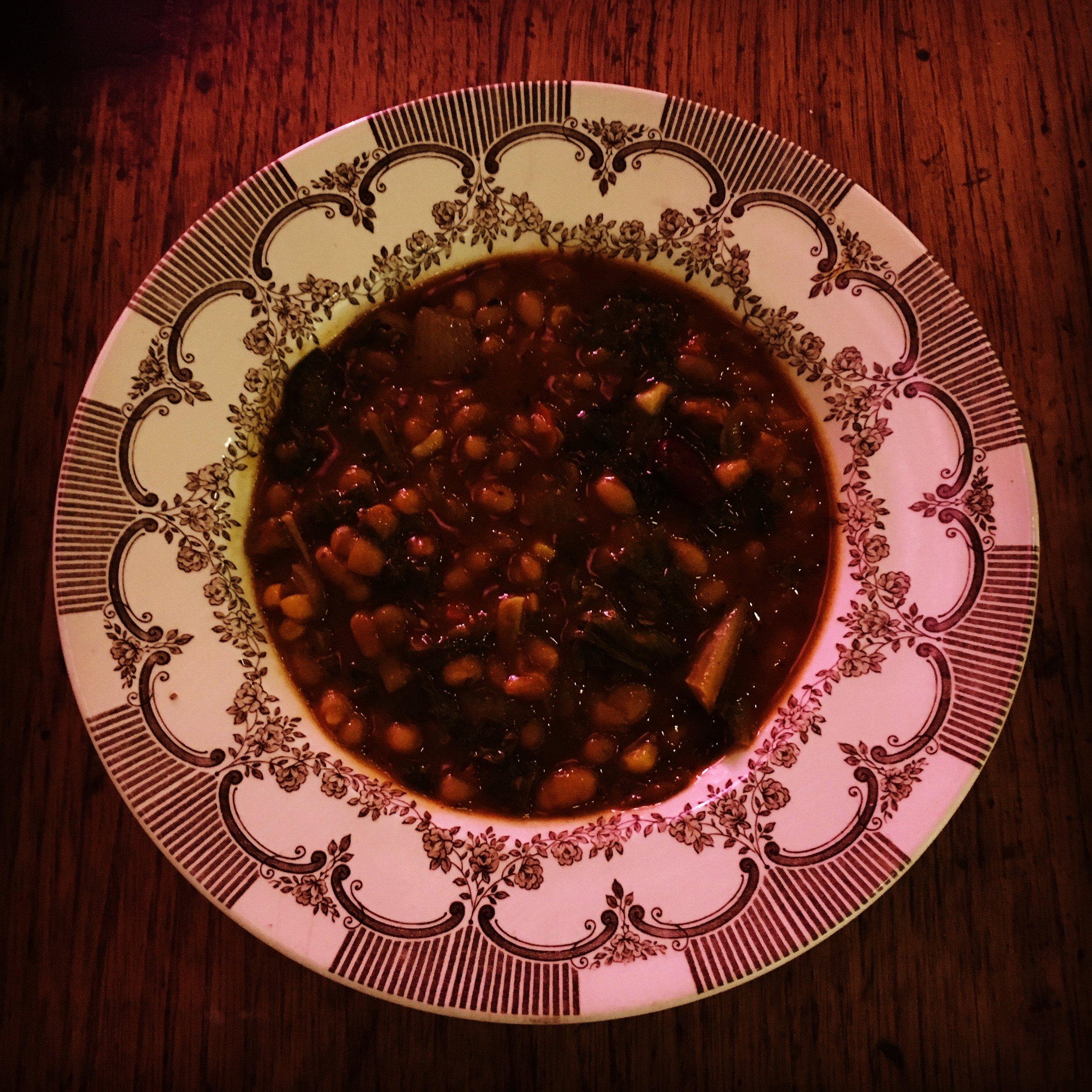 My spicy Boston Bean Stew - yum!