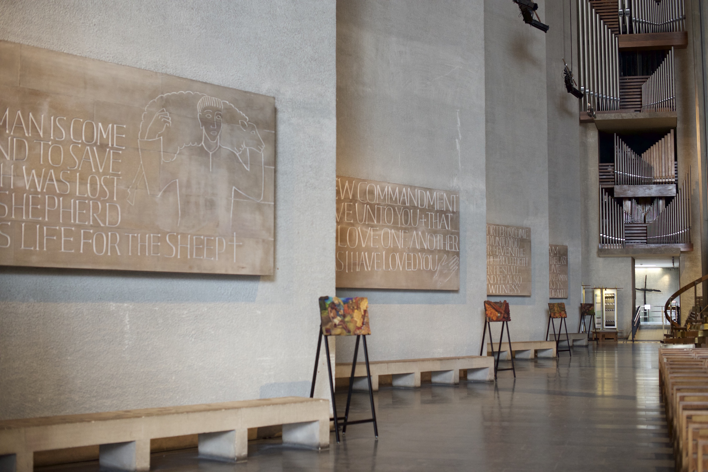 Stations of the Holocaust in Coventry Cathedral - West wall no 2