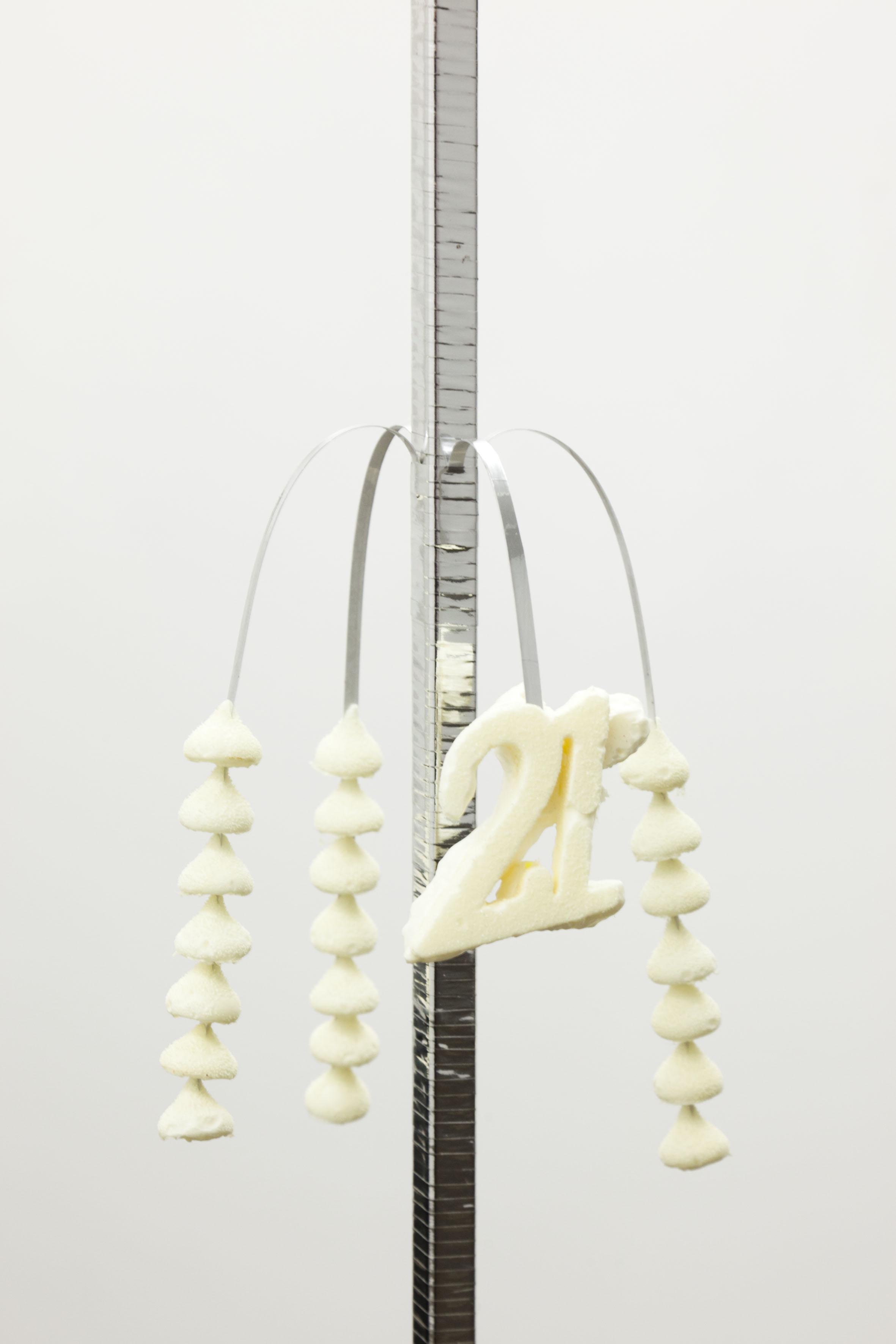 Forever 21 , 2012, polyurethane expanding foam, automatic fragrance dispenser, ribbon, Alternate Universal Studios , Firstdraft, Sydney. Photography: Silversalt Photography. Copyright JD Reforma
