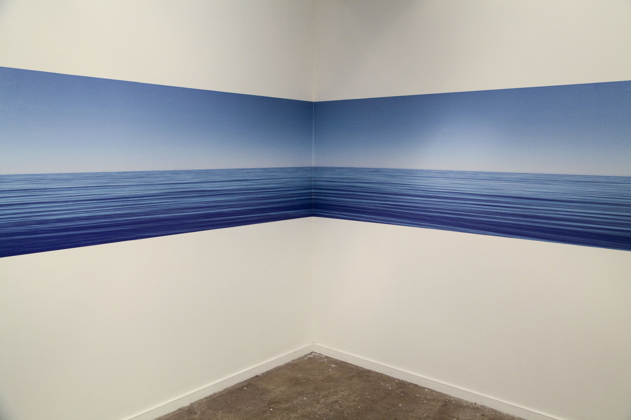 Horizon , 2013, printed adhesive vinyl, installation view, MOP Projects, Sydney. Photography: Michael Randall. Copyright JD Reforma