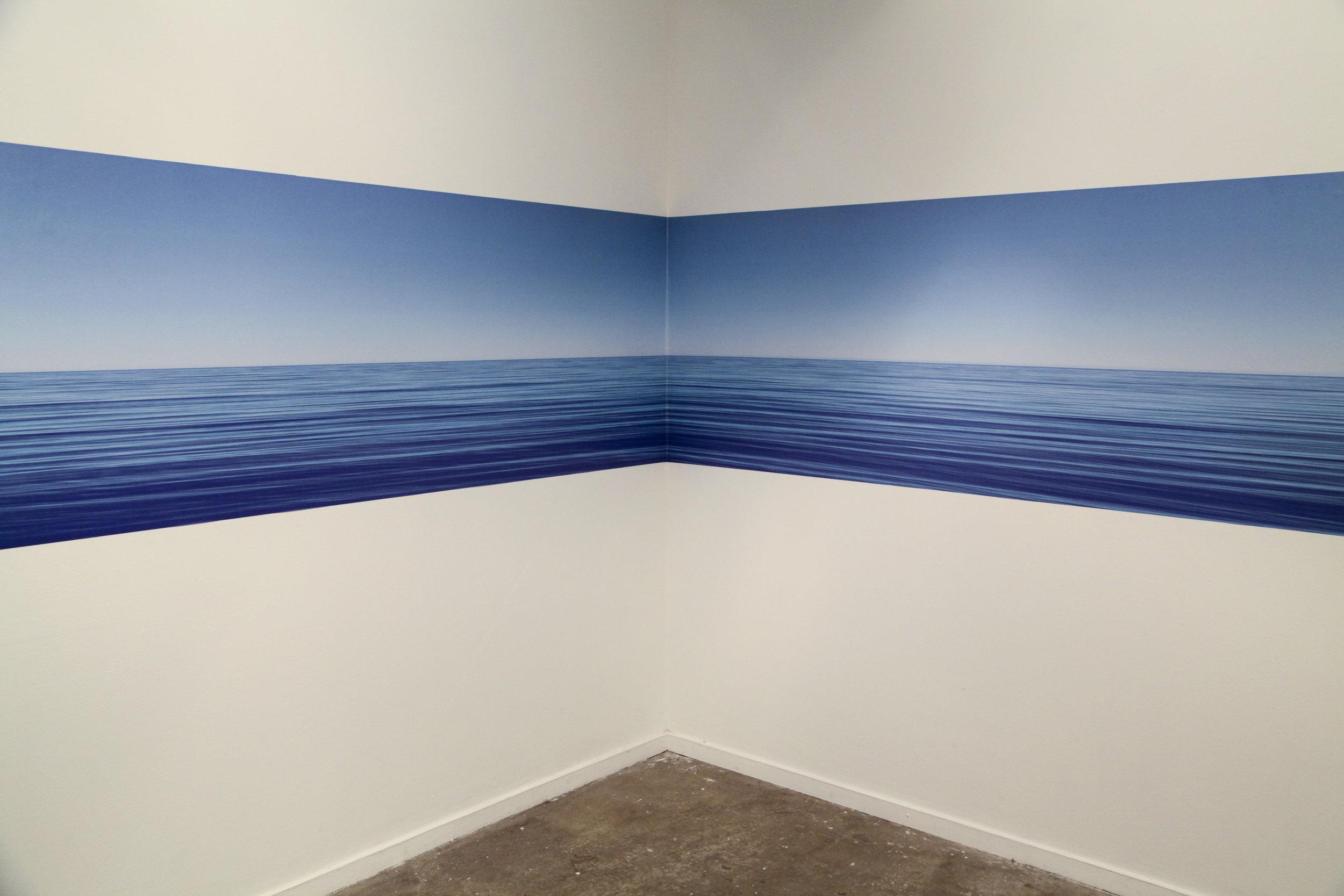 Horizon , 2013, printed adhesive vinyl,installation view, MOP Projects, Sydney. Photography: Michael Randall. Copyright JD Reforma