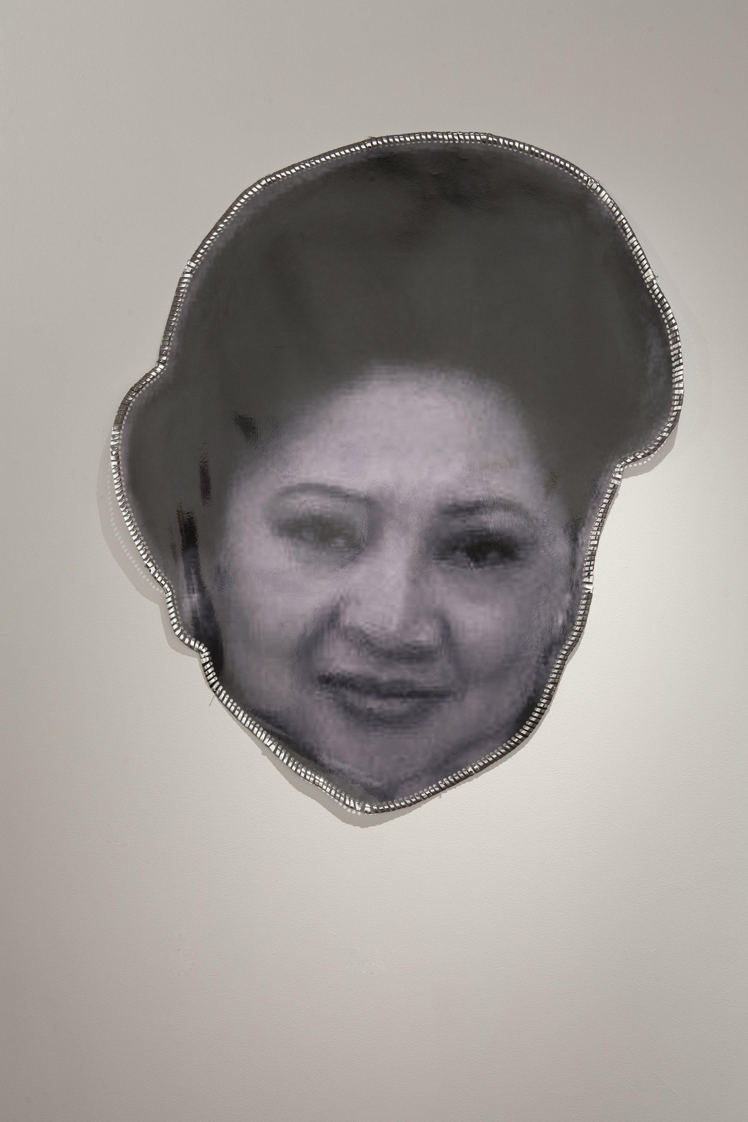 M.O.M. , 2011, digital composed and laminated photograph,installation view,  M.O.M. (Muse of Manila) , 2011, Firstdraft, Sydney. Photo: Charles Dennington. Copyright JD Reforma