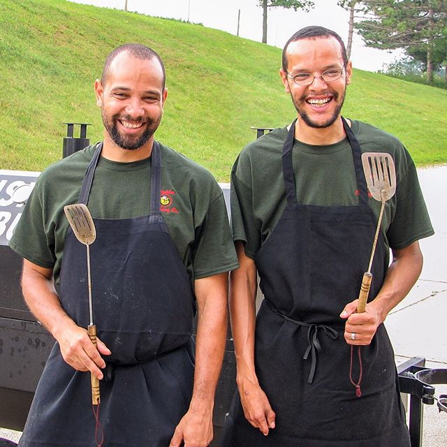 "The ""Pork Burger Brothers"" Dennis and Jonathan Monson. #mishlersmeats #porkpatties #porkburgers #porkburgerpatties"