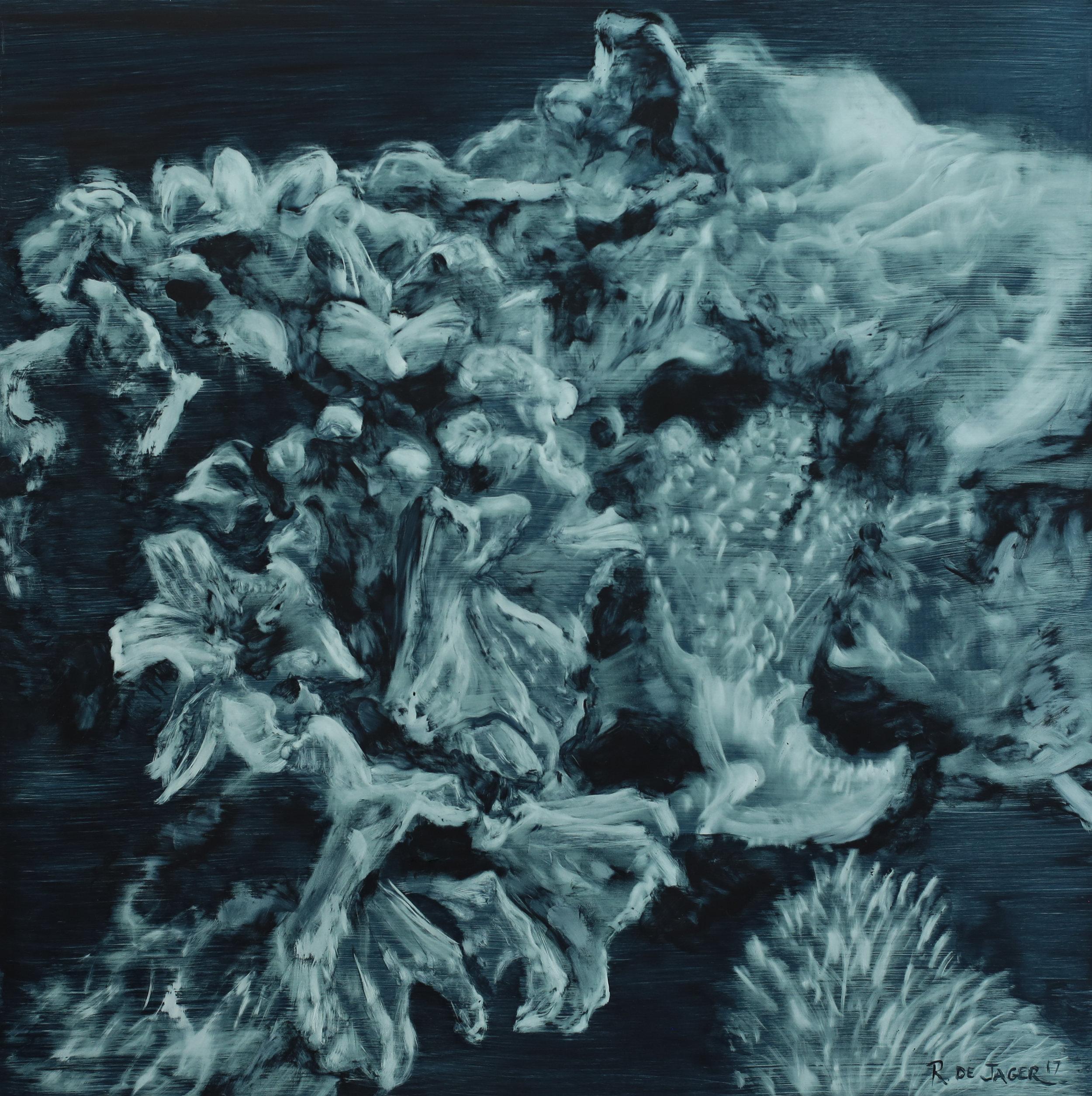 Ronel de Jager. Title TBC 3. 2017. Oil on paper, 50 x 50 cm.jpg