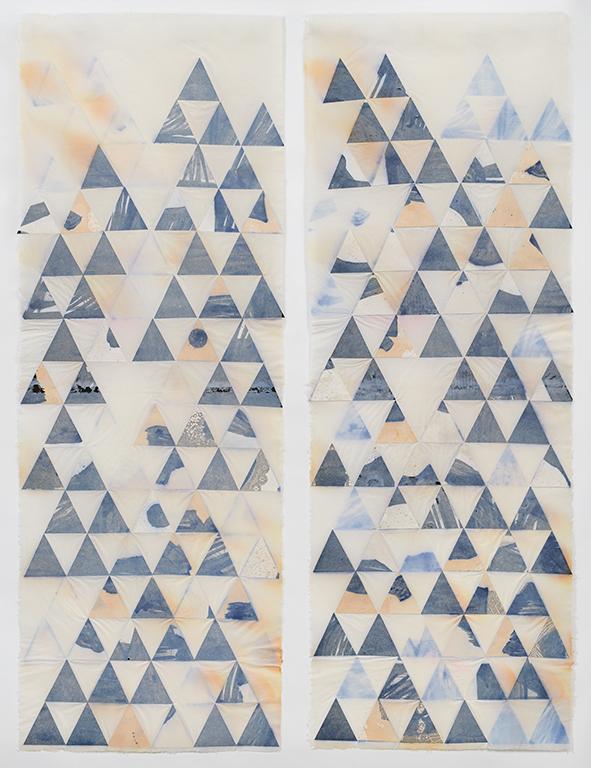 from The Other Landscape series  Collage embedded in handmade paper | 172cm x 130cm