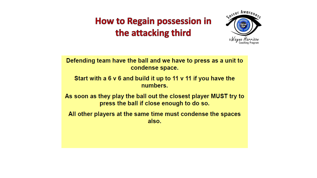 Defending and Pressing in the Attacking Third