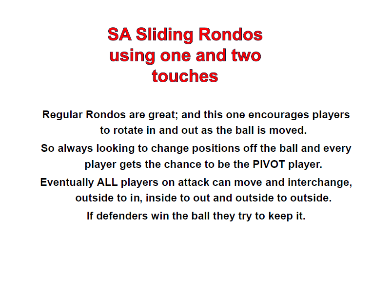 Sliding Rondo Playing 1 and 2 Touches
