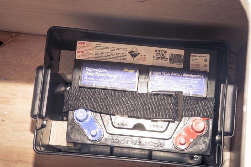 12V battery installed