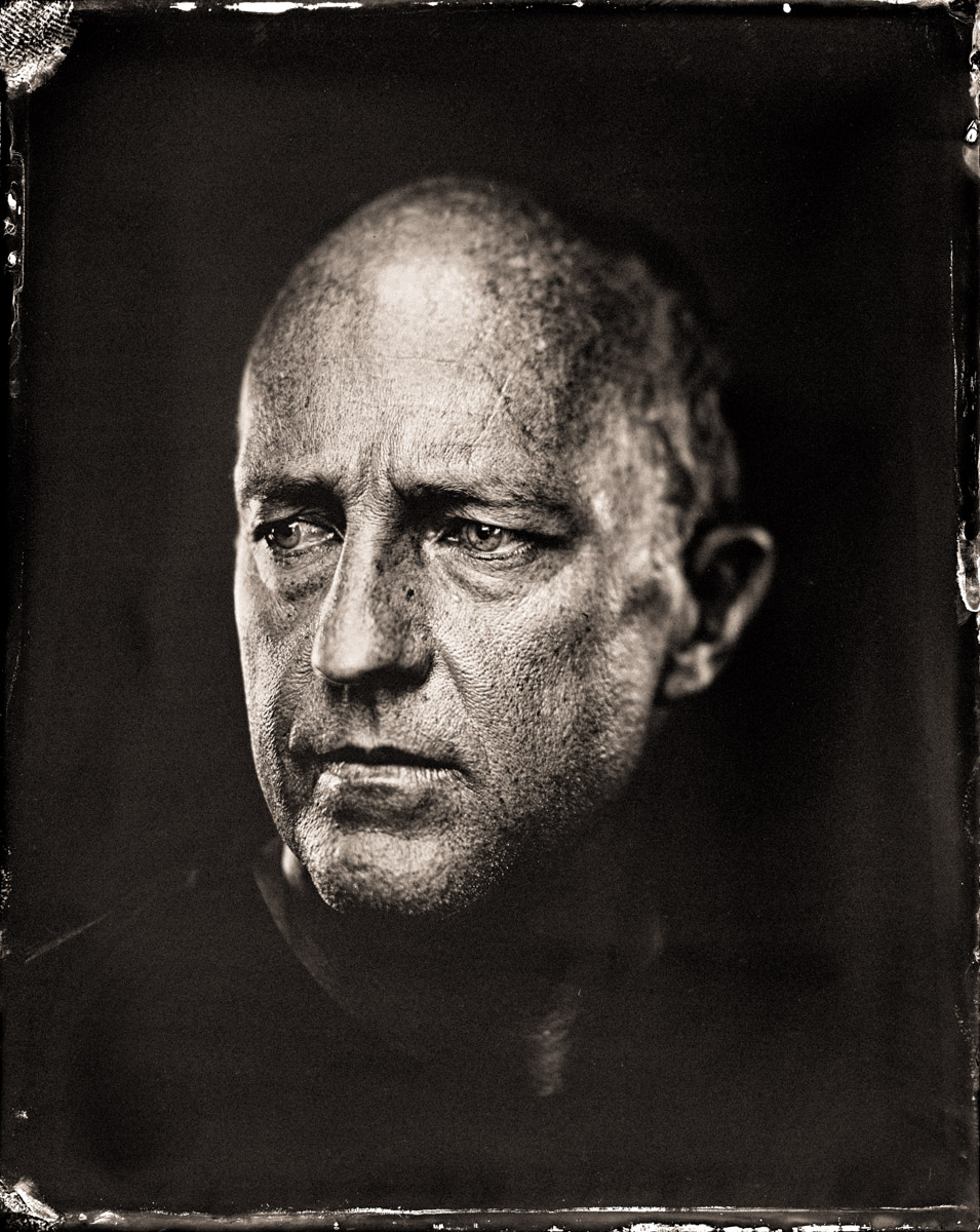 A Wet Plate Collodion Tintype of Colin Hoy. Image Credit: Paul Alsop and Luke White