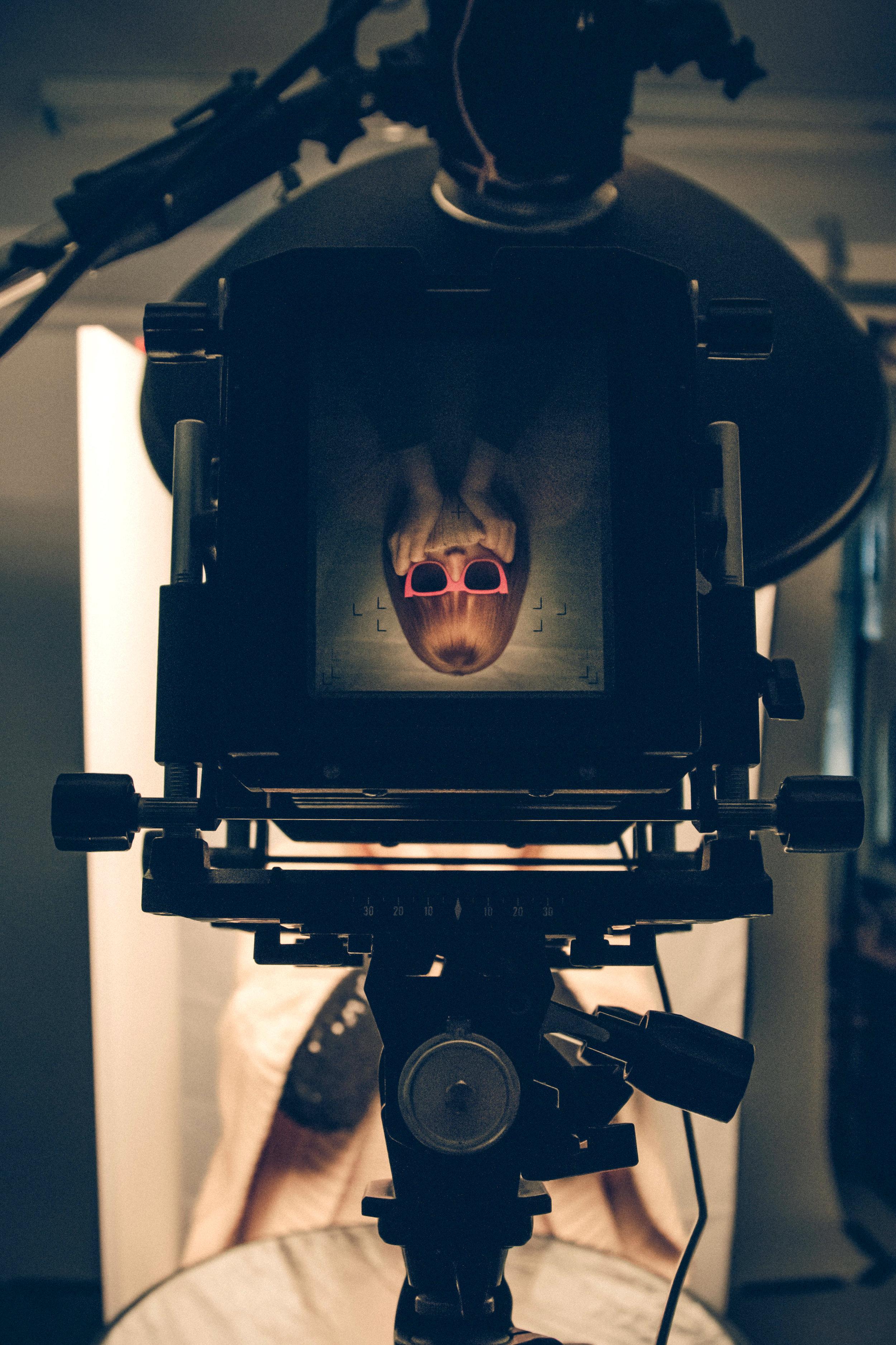 Blur Eyecare shoot BTS. Image Credit: Shawn Rolton.