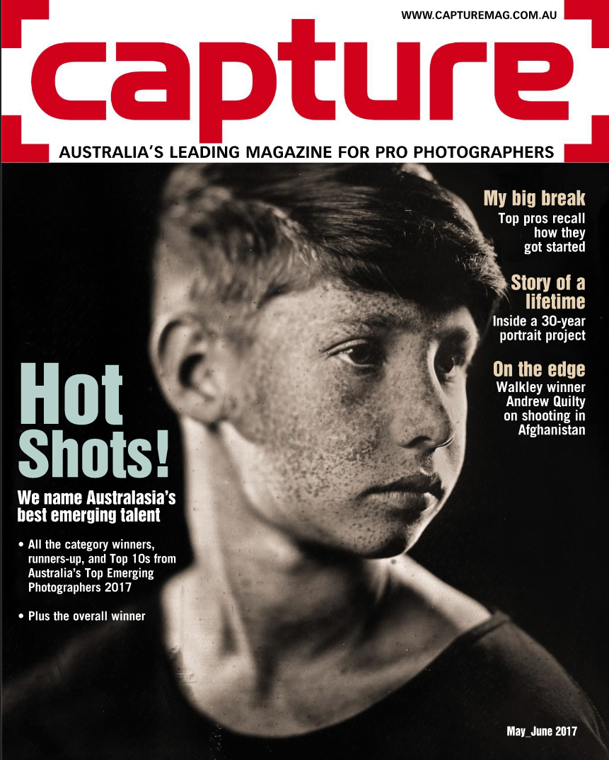 Capture Magazine Front Page and Australia New Zealand Top Emerging Photographer 2017