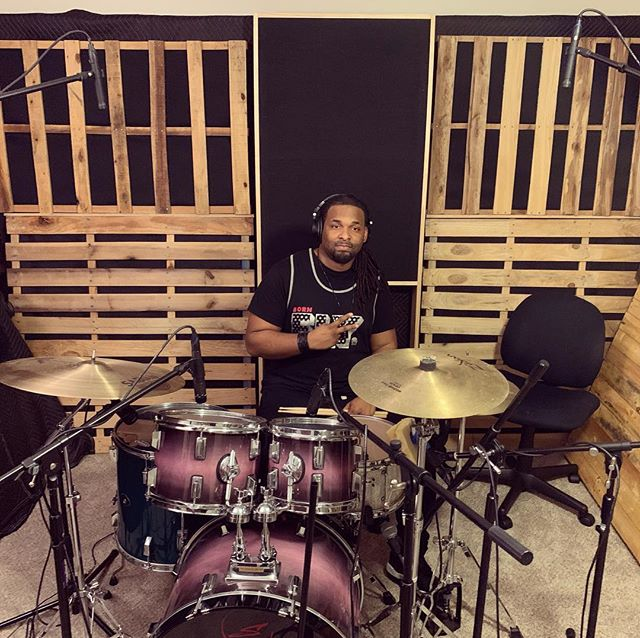 #TBT to when we had @alvinljones in the studio laying down drums for some new @citizengoldmusic tracks. Such a great drummer! • • • • #studio #homestudio #recording #producing #production #protools #engineer #engineering #songwriter #producer #atlanta #atl #atlantamusic #entertainment #beats #bass #drums #drummer #work #entrepreneur #indie #athens #georgia #rock #snare #zildjian #snaredrum
