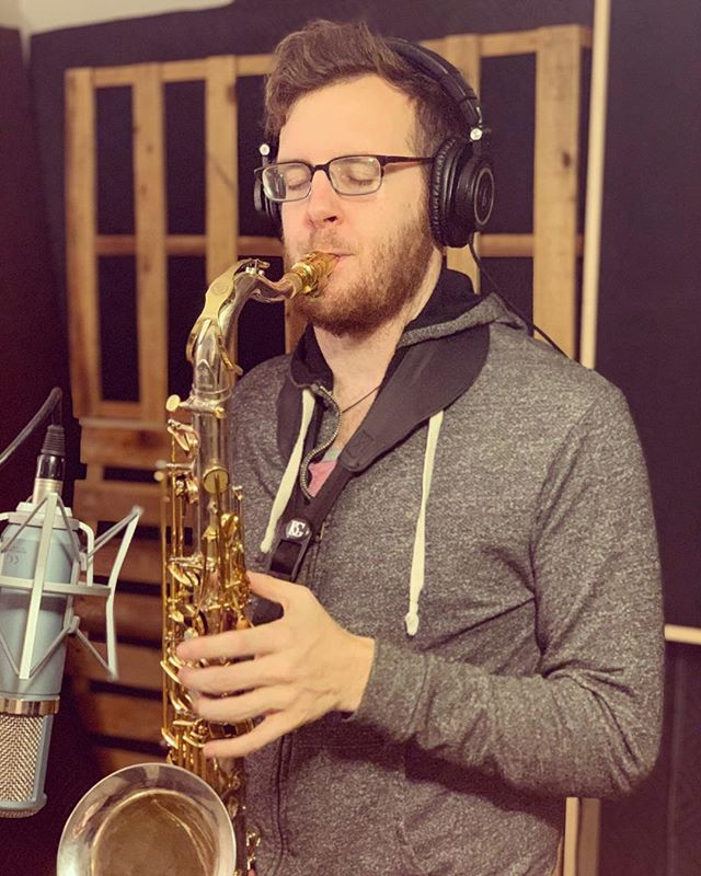 Today we had @ianpartials over tracking saxophone on @insta.emwatson's new track and it couldn't have come out better! Ian is an incredibly talented dude and we can't wait to keep working with him. If you need sax on a track, hit him up ASAP! . . . . . #studio #homestudio #recording #producing #production #protools #engineer #engineering #songwriter #producer #athens #entertainment #work #entrepreneur #indie #recordingstudio #sax #saxophone #horns #brass #liveroom