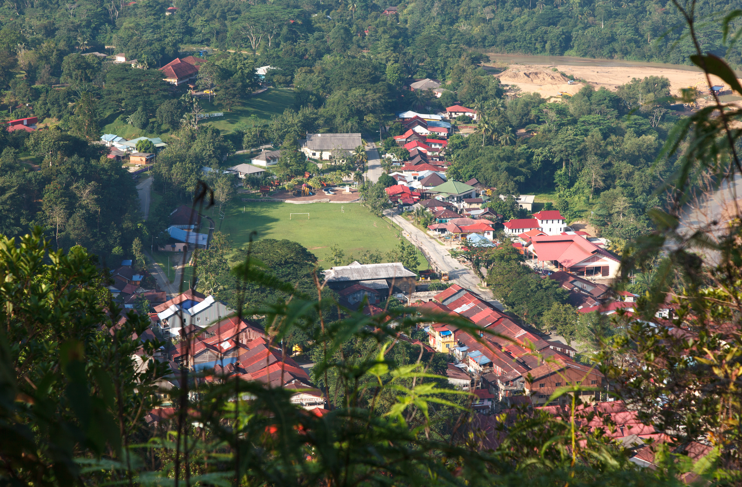 Sungai Lembing captured from the stairs of Panorama Hill.