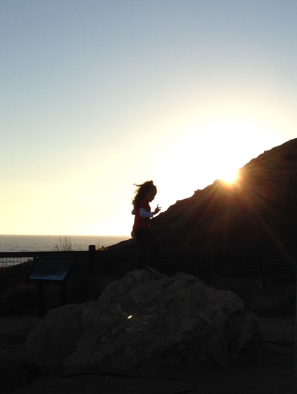 During my birthday beach getaway (shortly before my diagnosis), I shot this image of a little girl playing carefree in the sunset, which was symbolic of that time in my life.