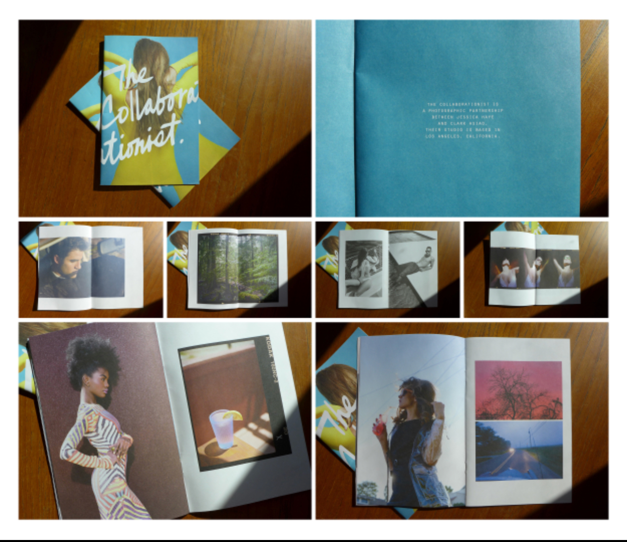 Yuri's work: Promotional zine for photographers The Collaborationist. Photo: Yuri Angela Chung